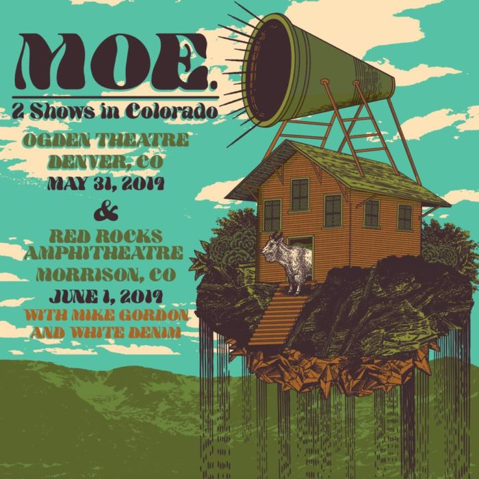 moe. Detail Colorado Shows Including Red Rocks with Mike Gordon and White Denim