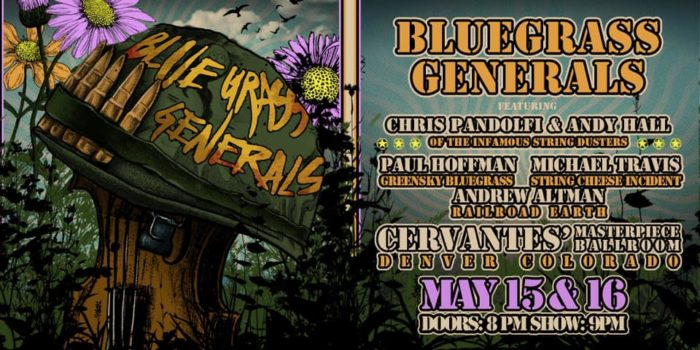 Members of SCI, Greensky Bluegrass, The Infamous Stringdusters and Railroad Earth Schedule Bluegrass Generals Run in Denver
