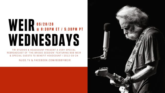 Bob Weir to Share 'The Bridge Session' Featuring Members of The National for 'Weir Wednesdays' Broadcast