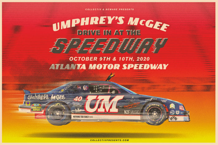 Umphrey's McGee Prep Two Drive-In Shows at Atlanta Motor Speedway